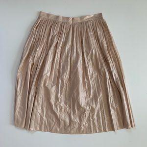 J.Crew Metallic Pleated Midi Skirt 12 New